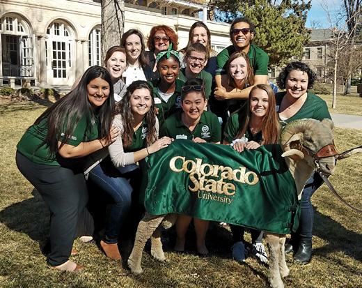 CSU staff with CAM the Ram