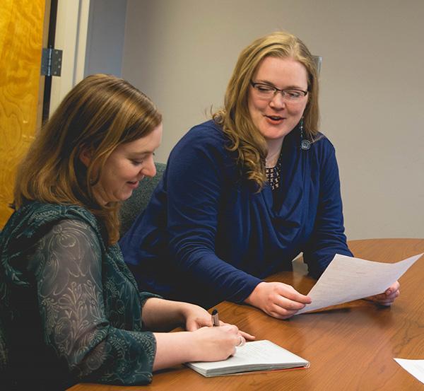 CSU advancement staff working